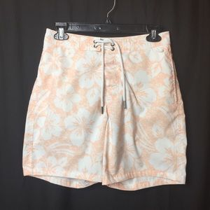 Abercrombie & Fitch Floral Hibiscus Swim Trunks